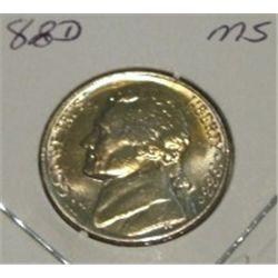 1988-D JEFFERSON NICKEL *RARE MS HIGH GRADE - NICE COIN*!!