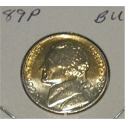 1989-P JEFFERSON NICKEL *RARE BU HIGH GRADE - NICE COIN*!!