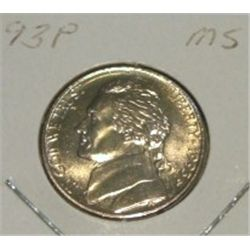 1993-P JEFFERSON NICKEL *RARE MS HIGH GRADE - NICE COIN*!!