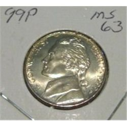 1999-P JEFFERSON NICKEL *RARE MS-63 HIGH GRADE - NICE COIN*!!