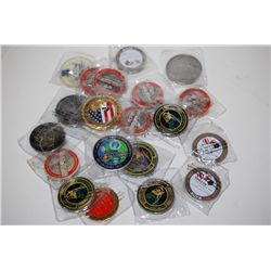 Various Military Challenge Coins; Various Dates, Bases, Etc.; Lot of 20; EST. $100-200