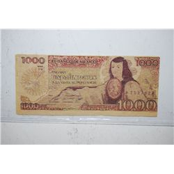 Mexico 1000 Un Mil Pesos Foreign Bank Note; EST. $5-10