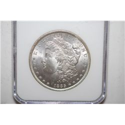 1885 Silver Morgan $1; NGC Graded MS63; EST. $60-80