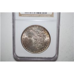 1889 Silver Morgan $1; NGC Graded MS63; EST. $60-80