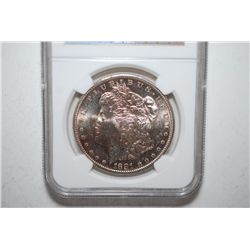 1881-S Silver Morgan $1; NGC Graded MS62; EST. $60-80