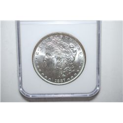 1887 Silver Morgan $1; NGC Graded MS63; EST. $60-80