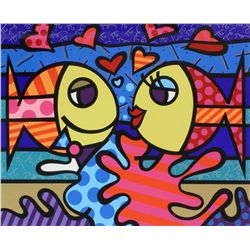 BRITTO HORS COMMERCE SERIGRAPH 'DEEPLY IN LOVE'