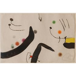 JOAN MIRO PENCIL SIGNED LITHOGRAPH VIII/L