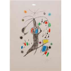 JOAN MIRO PENCIL SIGNED LITHOGRAPH I/XV