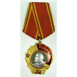 RUSSIAN 14K YG & PLATINUM ORDER OF LENIN PIN MEDAL