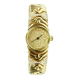 BVGARI 18K DIAMOND PARENTHESES WATCH