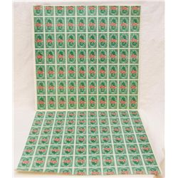 2 SHEETS ANDY WARHOL S&H GREEN STAMPS 1965