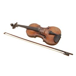 JACOBUS STAINER VIOLIN & BOW w CASE CIRCA 1660