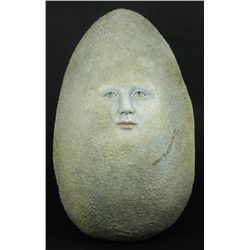 SERGIO BUSTAMANTE CERAMIC MOON FACE EGG