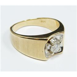 14K YELLOW GOLD .50ct DIAMOND GENT'S RING