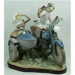 LLADRO SPAIN PORCELAIN OLD FASHIONED MOTORIST 5161