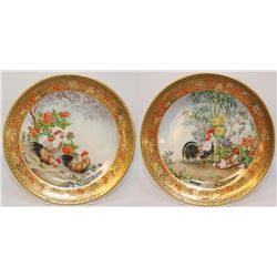 A PAIR OF EDWARD MARSHALL BOEHM PORCELAIN PLATES