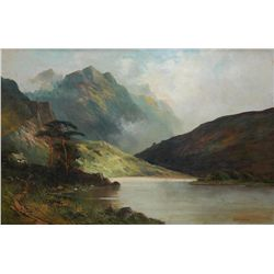 BENJAMIN WILLIAMS LEADER OIL/CANVAS OF LANSCAPE