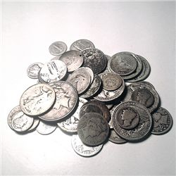 90% Silver Mixed Cull Condition 10 Ounces