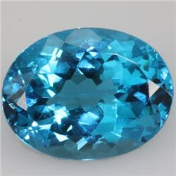 Natural Blue Topaz Oval Cut 36.68ctw