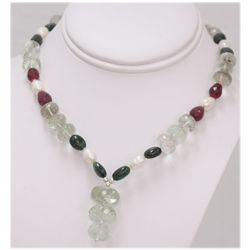 NATURAL 306.20 CTW PEARL  RUBY AND MIXED SEMI-PRECIOUS