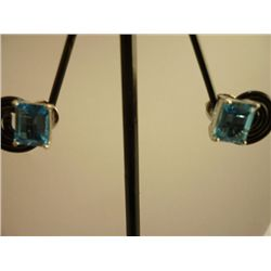 14.25 CTW BLUE TOPAZ EARRING .925 STERLING SILVER