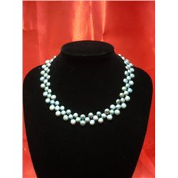 16 INCH 250CTW SIOPAO FLAT BLACK PEARL NECKLACE