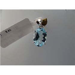 12.75 CTW BLUE TOPAZ PENDANT .925 STERLING SILVER