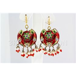 8.25GRAM INDIAN HANDMADE LAKH FASHION EARRING