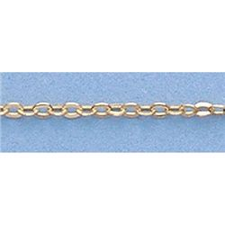 "Pure Gold 16"" 14k Gold-Yellow 1.3m Hallow DC Chain"
