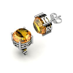 Citrine 2.60ctw Earring 14kt White Gold