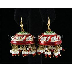 11.66GRAM INDIAN HANDMADE LAKH FASHION EARRING