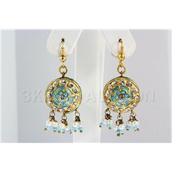 6.26GRAM INDIAN HANDMADE LAKH FASHION EARRING