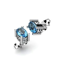 Topaz 1.14ctw Earring 14kt White Gold