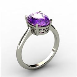 Amethyst 2.40 ctw Ring 14kt White Gold