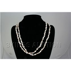 255.88CTW 23in. FRESHWATER PEARL WHITE-PEACH NECKLACE