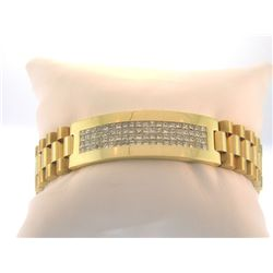Rolex Diamond Princess Cut Bracelet 7.10 cts 14kt YG