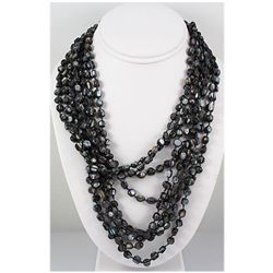 788.00ctw Mother of Pearl Beads 8Rows Necklace, 12inch