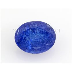 6.46ctw  A  plus Tanzanite Oval 13x10mm SmoothPolish