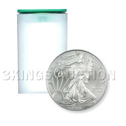 Uncirculated Silver American Eagle Roll (20 Coins) 2012