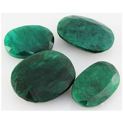 Emerald 494ct Loose Gemstone Mix Sizes Oval Cut