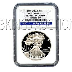 Certified Proof Silver Eagle PF70 2007 Early Release