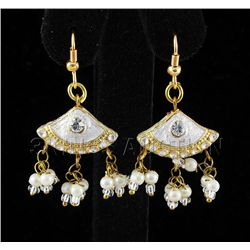 3.21GRAM INDIAN HANDMADE LAKH FASHION EARRING