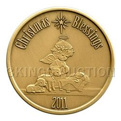 Christmas 2011 Bronze Round X-4 Christmas Blessing (wit