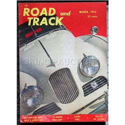 Road & Track (March 1953) Great Condition Rare!