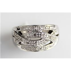 Woven Pattern 925 Sterling Ring