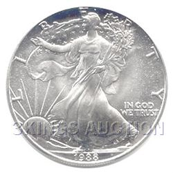 Uncirculated Silver Eagle 1988