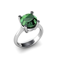 Emerald 6.10ctw Ring 14kt White Gold