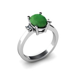 Emerald 1.90 ctw Diamond Ring 14kt White Gold