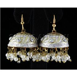 11.78GRAM INDIAN HANDMADE LAKH FASHION EARRING